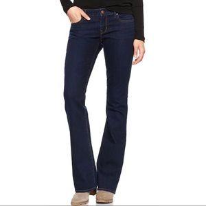 Gap jeans sexy boot 29 short dark wash euc